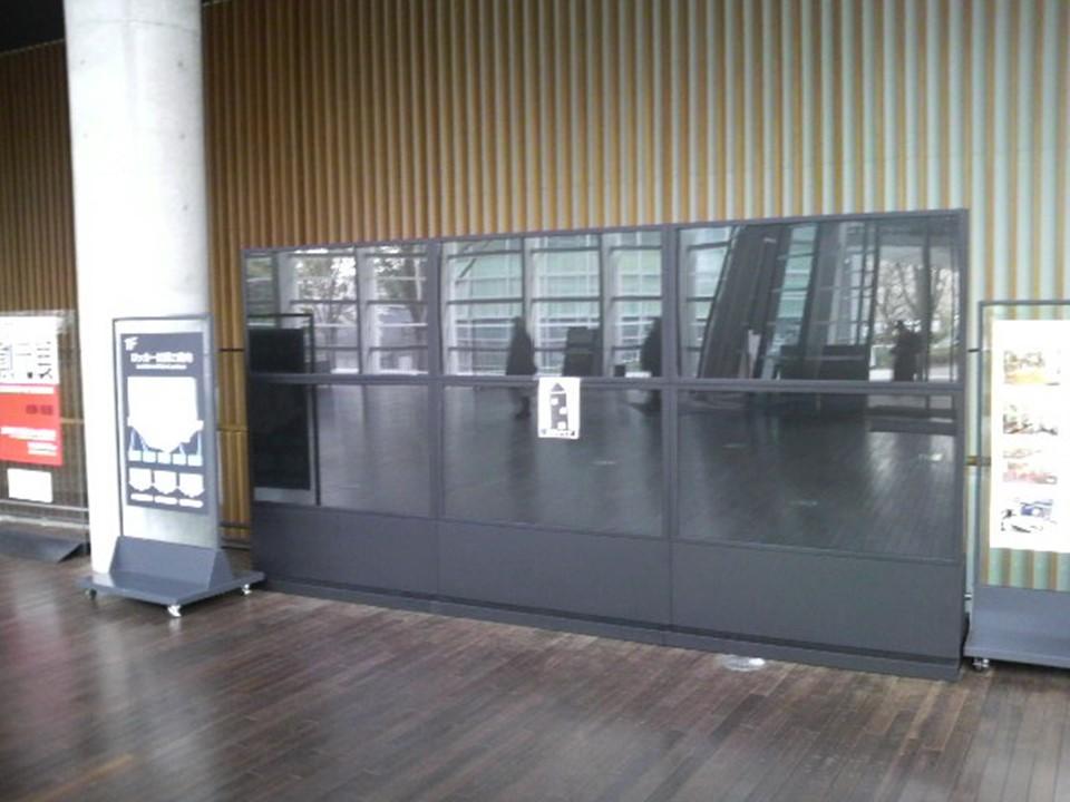 導入事例 デジタルサイネージ 57インチ マルチビジョン 美術館設置 事例